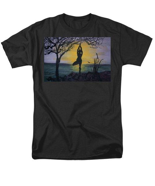 Yoga Tree Pose Men's T-Shirt  (Regular Fit)