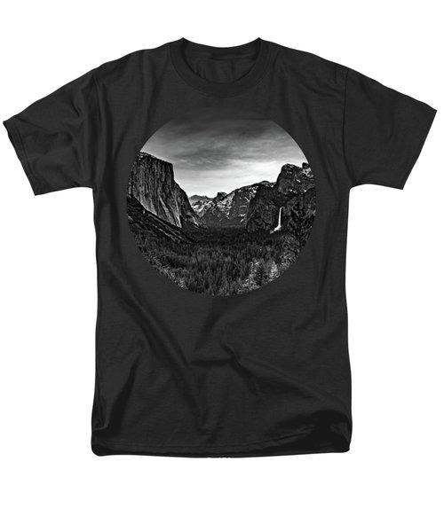 Yosemite Sunrise, Black And White Men's T-Shirt  (Regular Fit) by Adam Morsa