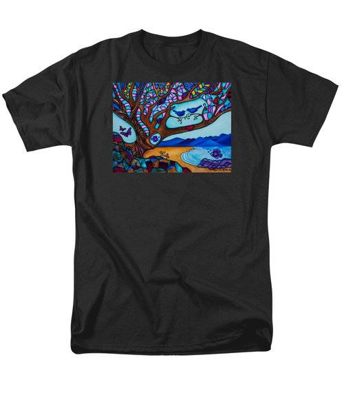 Men's T-Shirt  (Regular Fit) featuring the painting Love Is All Around Us by Lori Miller