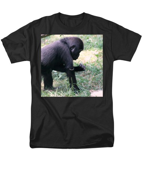 Young Gorilla Men's T-Shirt  (Regular Fit) by Laurel Talabere