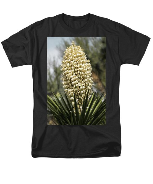 Men's T-Shirt  (Regular Fit) featuring the photograph Yucca Flowers In Bloom  by Saija Lehtonen