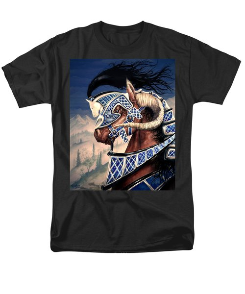 Men's T-Shirt  (Regular Fit) featuring the painting Yuellas The Bulvaen Horse by Curtiss Shaffer