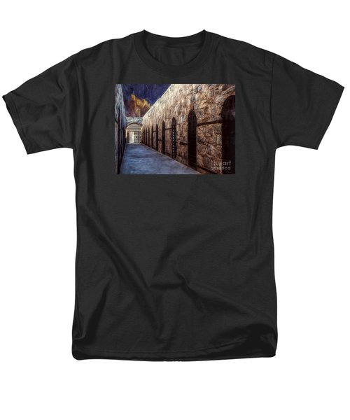 Yuma Prison Cellblock  ... Men's T-Shirt  (Regular Fit) by Chuck Caramella