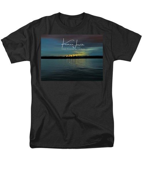 Men's T-Shirt  (Regular Fit) featuring the photograph Zambezi Sunset by Karen Lewis