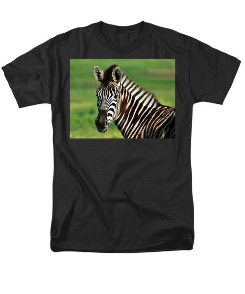 Zebra Close Up Men's T-Shirt  (Regular Fit) by Werner Lehmann