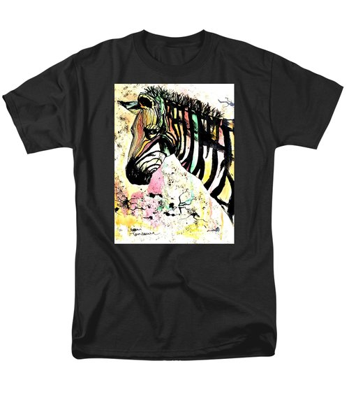 Men's T-Shirt  (Regular Fit) featuring the painting Zebra by Denise Tomasura