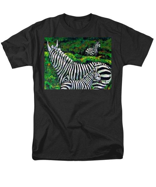 Zebra Family Men's T-Shirt  (Regular Fit) by Shirley Heyn
