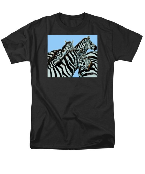 Zebra's In A Herd Men's T-Shirt  (Regular Fit) by Cheryl Poland