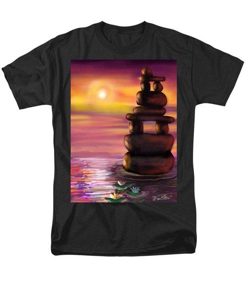 Men's T-Shirt  (Regular Fit) featuring the digital art Zen Sunset by Diana Riukas
