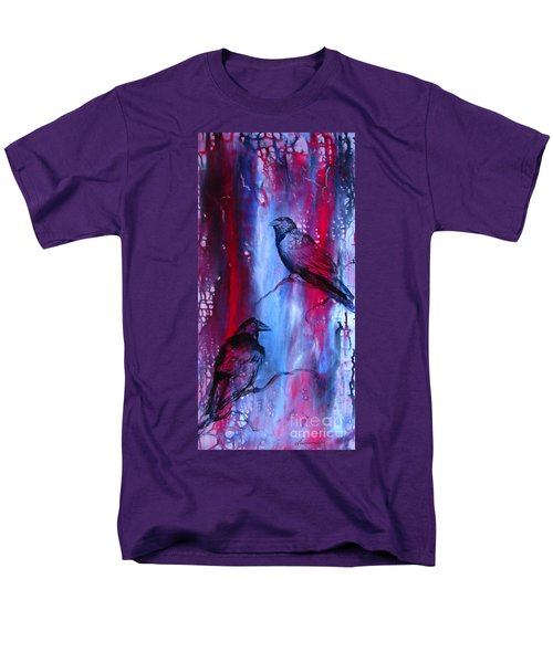Men's T-Shirt  (Regular Fit) featuring the painting Dark Wings by Laurianna Taylor
