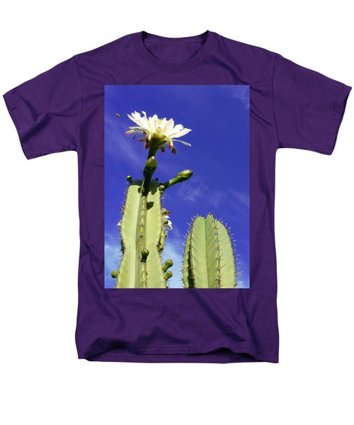 Men's T-Shirt  (Regular Fit) featuring the photograph Flowering Cactus 2 by Mariusz Kula