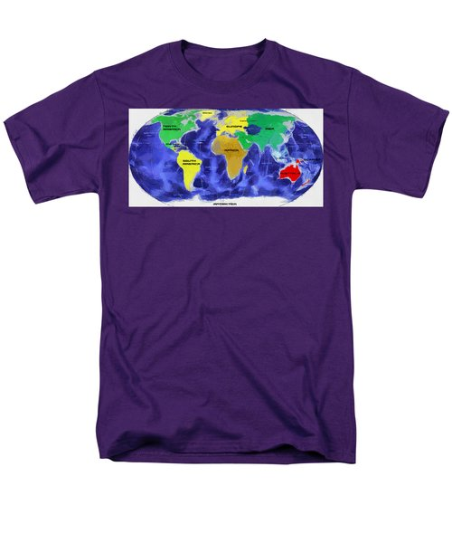 Men's T-Shirt  (Regular Fit) featuring the painting Map Of The World by Georgi Dimitrov