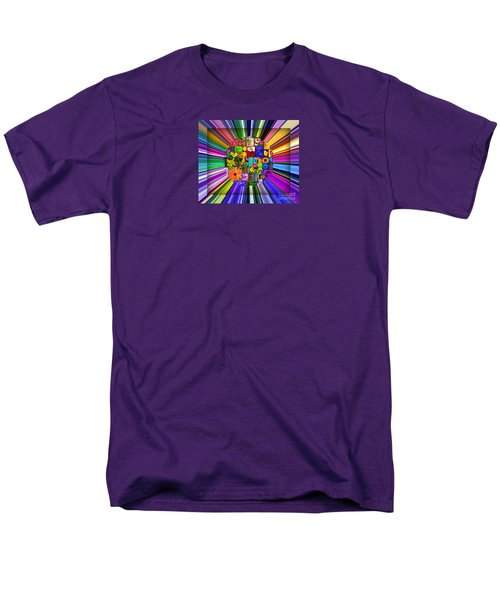 A Burst Of Flowers Men's T-Shirt  (Regular Fit)
