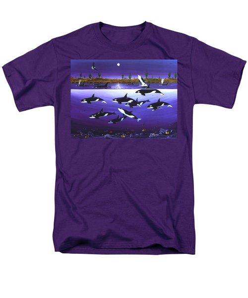 A Pod Of Desert Orcas Men's T-Shirt  (Regular Fit) by Lance Headlee