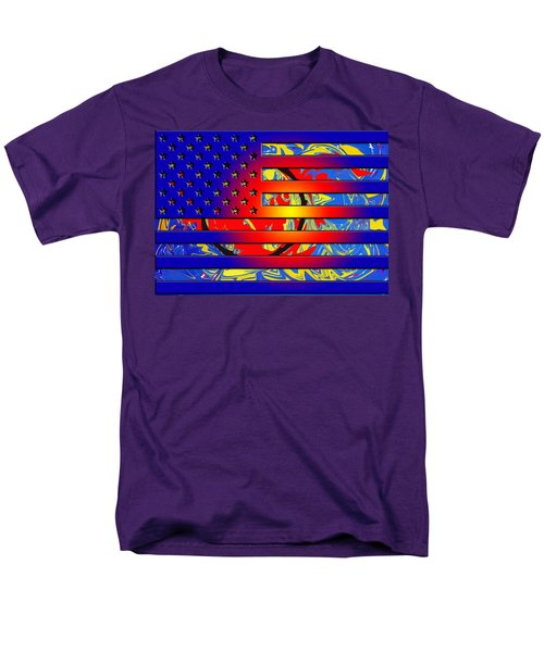 And The Flag Still Stands Men's T-Shirt  (Regular Fit) by Robert Margetts