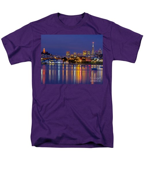 Aquatic Park Blue Hour Men's T-Shirt  (Regular Fit) by Kate Brown
