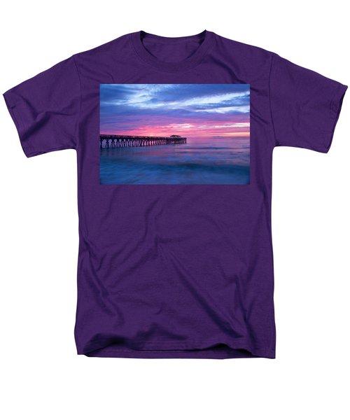 Myrtle Beach State Park Pier Sunrise Men's T-Shirt  (Regular Fit) by Vizual Studio