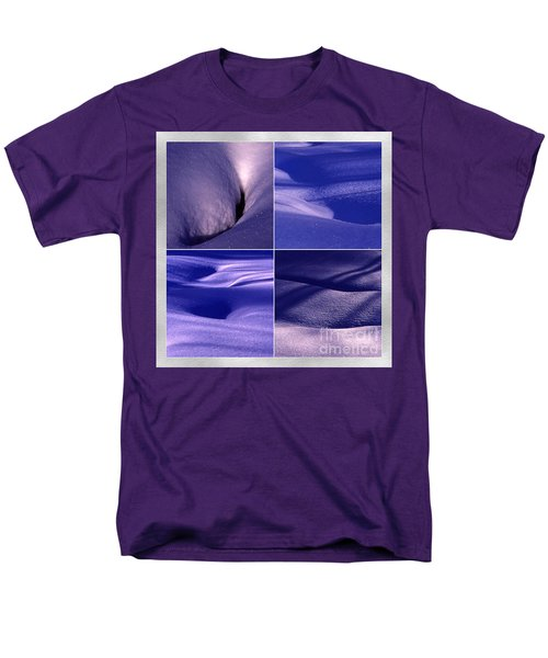 Men's T-Shirt  (Regular Fit) featuring the photograph Blue Snow by Randi Grace Nilsberg