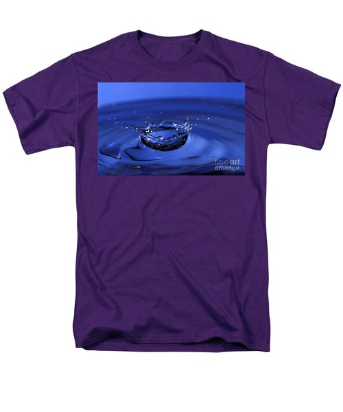 Blue Water Splash Men's T-Shirt  (Regular Fit) by Anthony Sacco