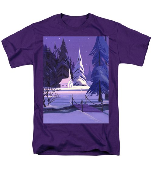 Church In Snow Men's T-Shirt  (Regular Fit) by Michael Humphries