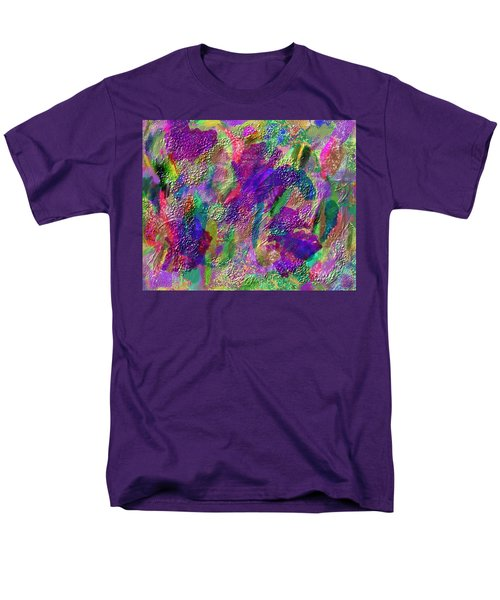 Men's T-Shirt  (Regular Fit) featuring the mixed media Color Dream Play by Penny Lisowski