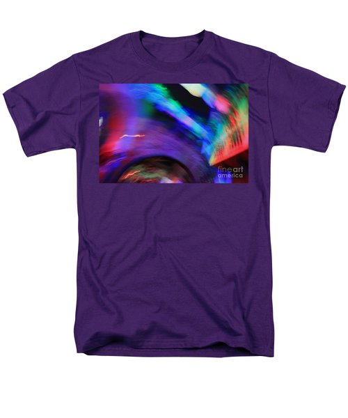 Men's T-Shirt  (Regular Fit) featuring the pyrography Color Tunnel  by Chris Thomas