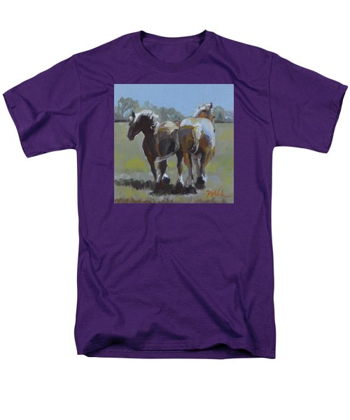 Men's T-Shirt  (Regular Fit) featuring the painting Come Back Max And Major by Pattie Wall