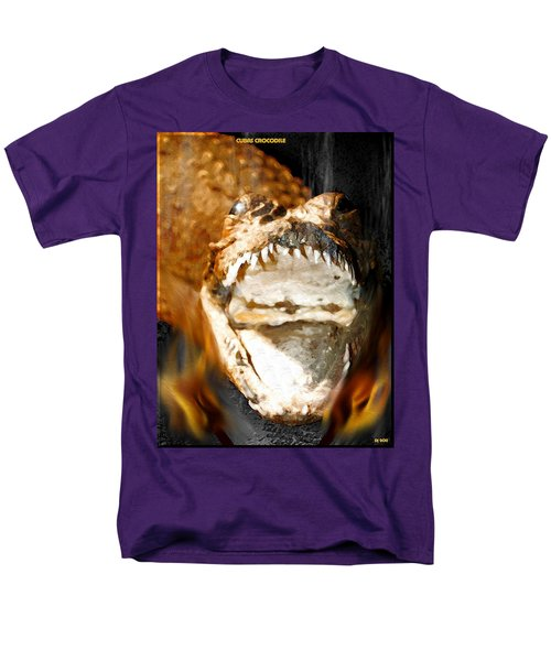 Men's T-Shirt  (Regular Fit) featuring the digital art Cuban Crocodile by Daniel Janda