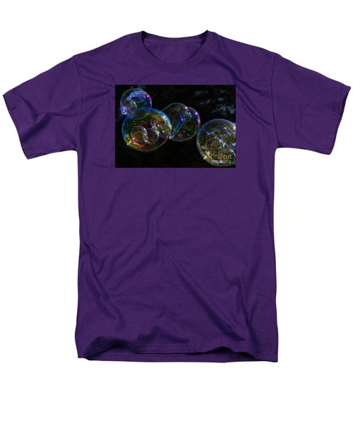 Dark Bubbles With Babies Men's T-Shirt  (Regular Fit) by Nareeta Martin