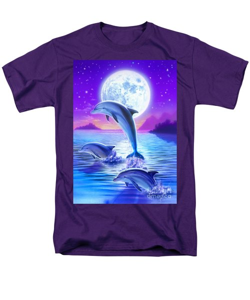 Day Of The Dolphin Men's T-Shirt  (Regular Fit) by Robin Koni