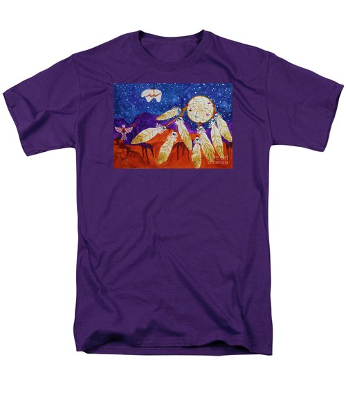 Dreamcatcher Over The Mesas Men's T-Shirt  (Regular Fit) by Ellen Levinson