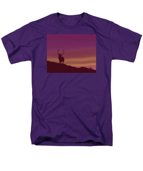 Men's T-Shirt  (Regular Fit) featuring the digital art Elk At Dusk by Terry Frederick