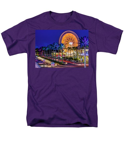 Ferris Wheel At The Wharf Men's T-Shirt  (Regular Fit) by Rob Sellers