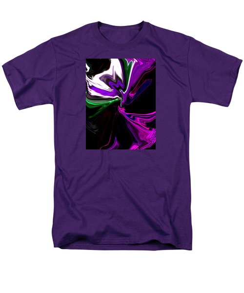 Purple Rain Homage To Prince Original Abstract Art Painting Men's T-Shirt  (Regular Fit) by RjFxx at beautifullart com
