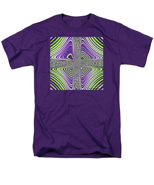Men's T-Shirt  (Regular Fit) featuring the digital art Fractal Four by Joan Hartenstein
