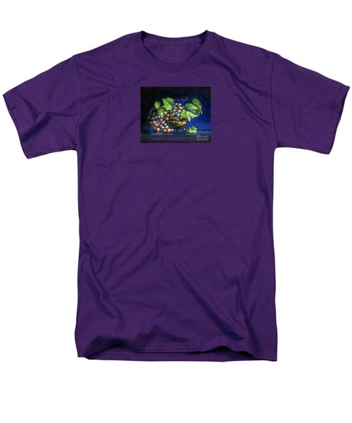 Grapes In A Footed Bowl Men's T-Shirt  (Regular Fit) by Jane Bucci