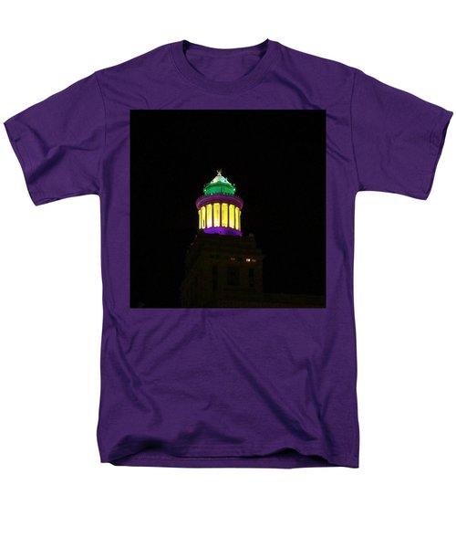 Hibernia Tower - Mardi Gras Men's T-Shirt  (Regular Fit) by Deborah Lacoste