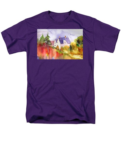 Men's T-Shirt  (Regular Fit) featuring the painting House In The Country by Yolanda Koh