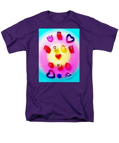 I Love Art Men's T-Shirt  (Regular Fit) by Shawna Rowe