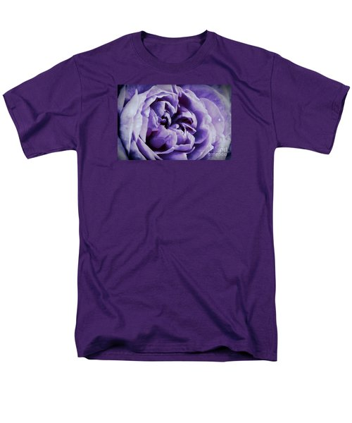 Lavender Motive Men's T-Shirt  (Regular Fit) by Jean OKeeffe Macro Abundance Art