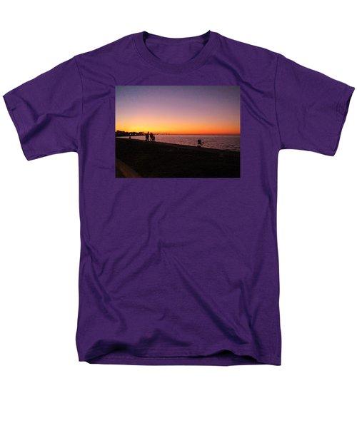 Lake Pontchartrain Sunset Men's T-Shirt  (Regular Fit) by Deborah Lacoste
