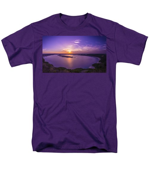 Lake Travis Sunset Men's T-Shirt  (Regular Fit) by David Morefield
