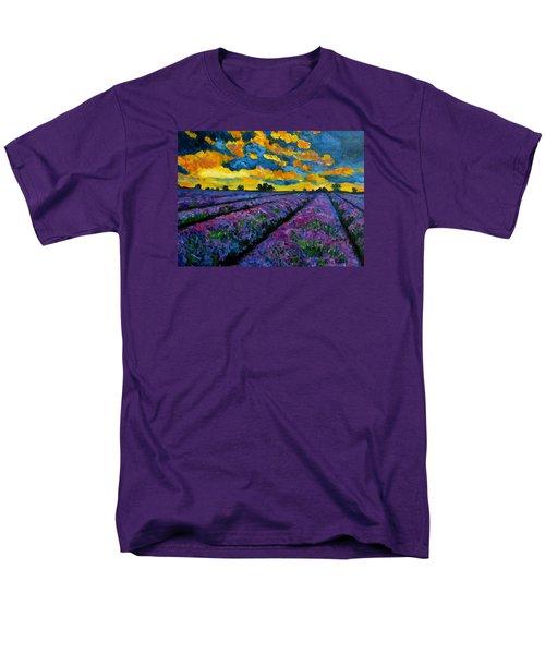 Lavender Fields At Dusk Men's T-Shirt  (Regular Fit) by Julie Brugh Riffey