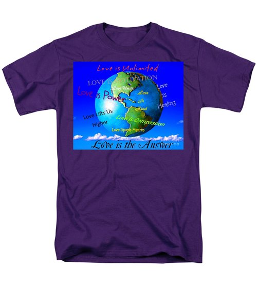 Men's T-Shirt  (Regular Fit) featuring the digital art Love Is. . . . by Bobbee Rickard