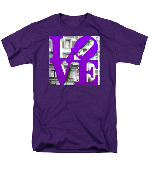 Love Philadelphia Purple Men's T-Shirt  (Regular Fit) by Terry DeLuco