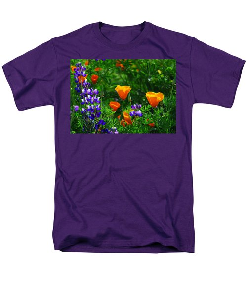 Lupines And Poppies Men's T-Shirt  (Regular Fit) by Lynn Bauer