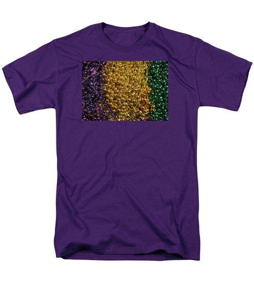 Mardi Gras Beads - New Orleans La Men's T-Shirt  (Regular Fit) by Deborah Lacoste