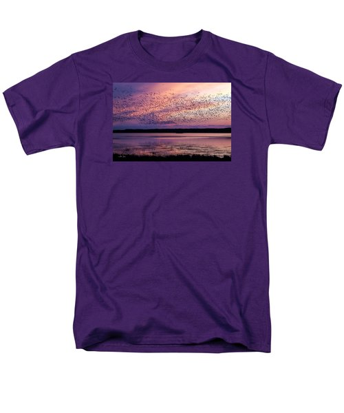 Men's T-Shirt  (Regular Fit) featuring the photograph Morning Commute by Joan Davis