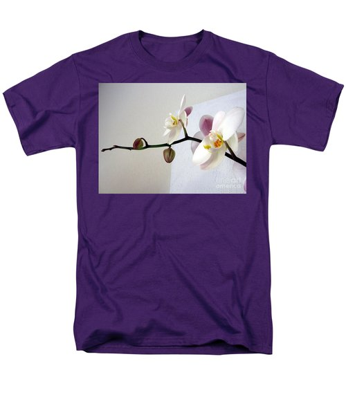 Orchid Coming Out Of Painting Men's T-Shirt  (Regular Fit) by Barbara Yearty