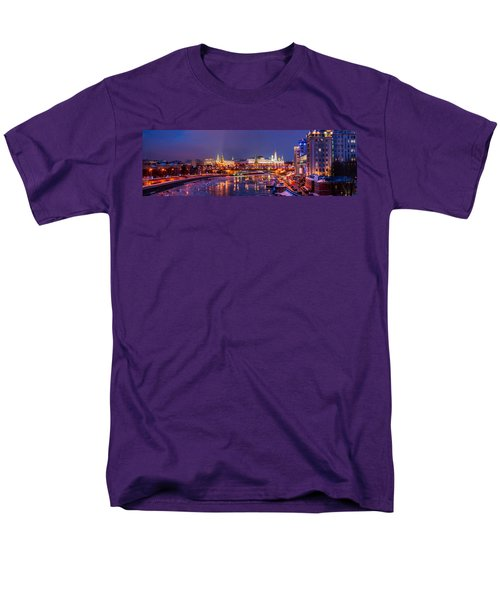Panoramic View Of Moscow River And Moscow Kremlin  - Featured 3 Men's T-Shirt  (Regular Fit) by Alexander Senin